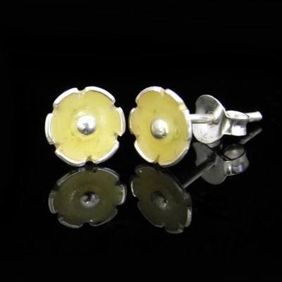 Flower Earrings Yellow Blossoms  - GCE7