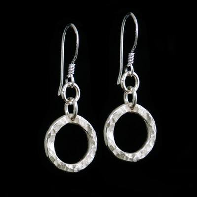 Hammered Circle Earrings - SWCE9