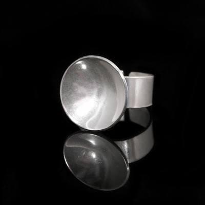 Silver Disc Ring (Adjustable) - DDR7