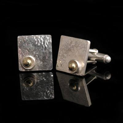 Gold and Silver Cufflinks - DDCL5