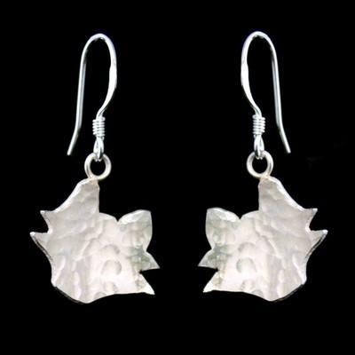 Silver Cat Earrings  - Charlie - GCE18