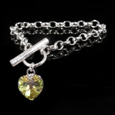 Silver Swarovski Bracelet  - JTAB1