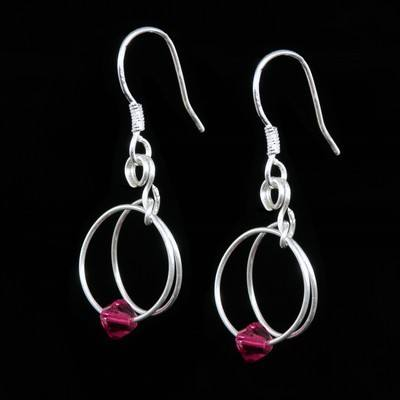 Ruby Earrings - July Birthstone - SWCE15G
