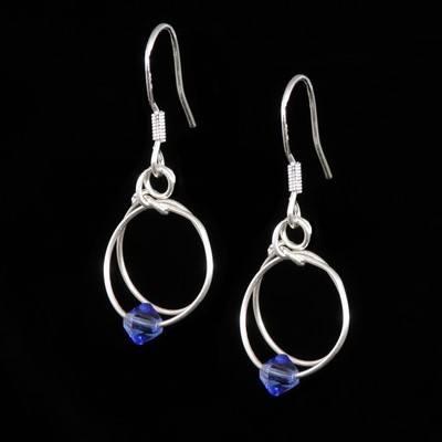 Sapphire Earrings - September Birthstone - SWCE15J