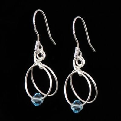 Aquamarine Earrings - March Birthstone - SWCE15C