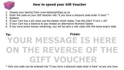 Reverse of Gift Voucher