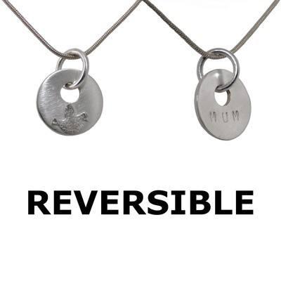 Silver Mum Jewellery - Reversible Pendant - BCP1