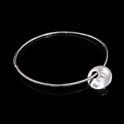 Silver Love Token Bracelet  - BCB3A