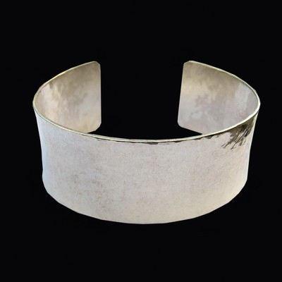 Hand hammered cuff bracelet