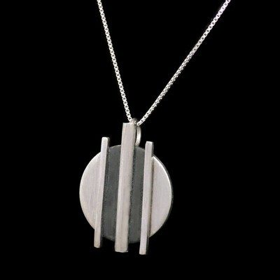 Oxidised Silver Pendant - DDP16