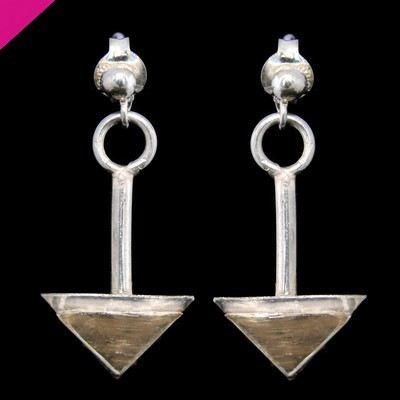 Gold & Silver  Drop Earrings