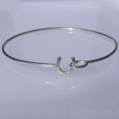 Silver Horseshoe Bracelet - HCB1