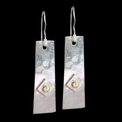 Silver & Gold  Drop Earrings