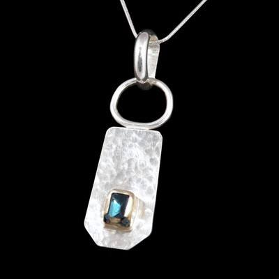 Silver, Gold Topaz Pendant - DDP5