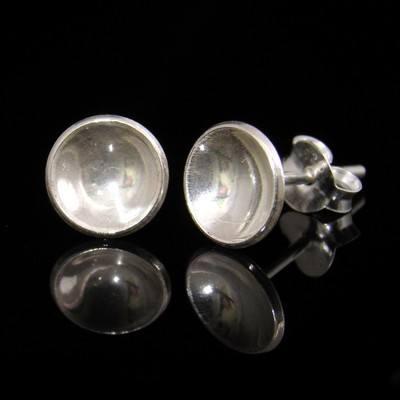 Silver Disc Earrings - DDE14
