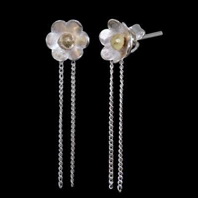 Sea Anemone Silver Studs - CCE4