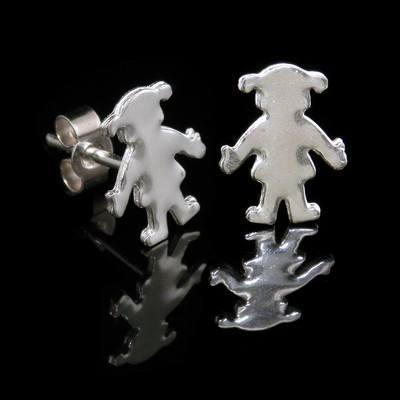 Silver Girls Earrings - BCE5