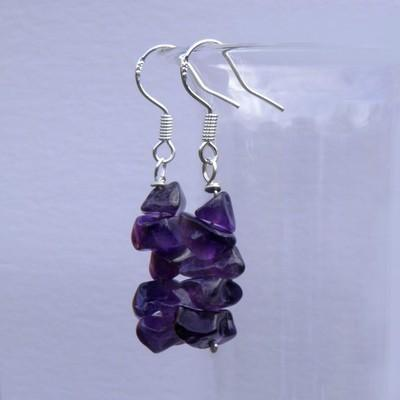 Silver Amethyst Earrings - GCE3