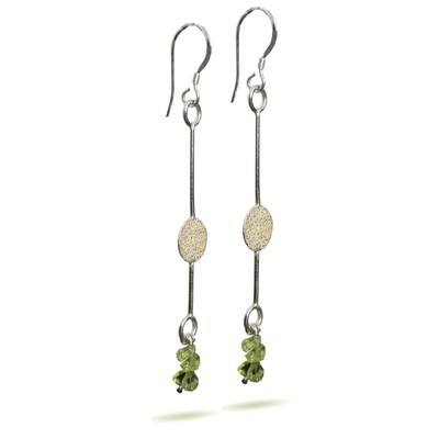 Silver and Peridot Earrings - GCE11