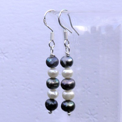 Silver Pearl Earrings - CCE6