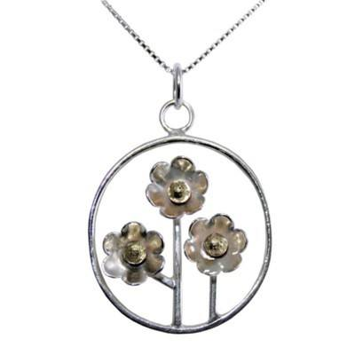 Sterling Silver Flower Pendant - Flourish -  GCP18