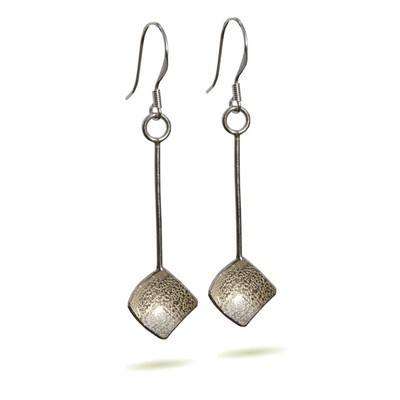 Square Textured Earrings - DDE16