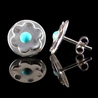 Silver Turquoise Earrings - GCE19