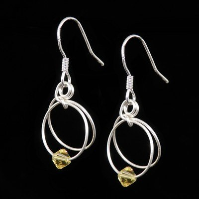 Citrine Earrings - November Birthstone - SWCE15L