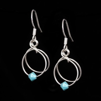 Turquoise Earrings - December Birthstone - SWCE15M