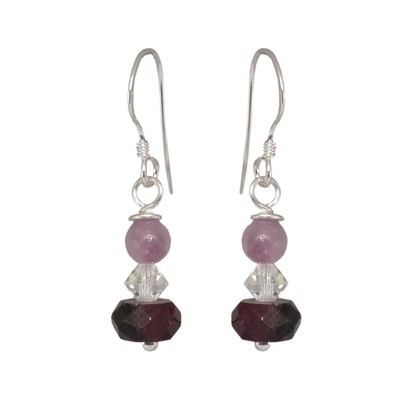 Silver Gemstone Earrings - BCE14