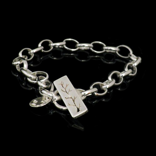 Chain Bracelet with Tree  -  GCB1B