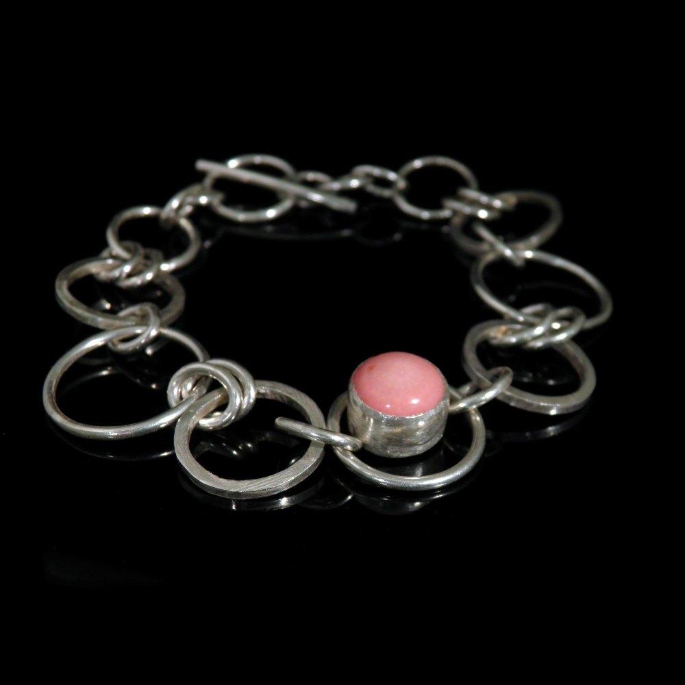 Coral Silver Bracelet   - CCB2