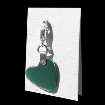 CARO Charm in Green with Red - AC620