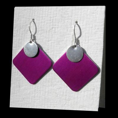 Delta Earrings with Discs
