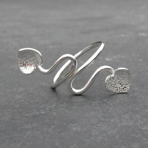 Hearts Ring  (Adjustable) - JTAR3