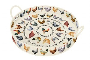 Emma Bridgewater Large Round Hens Tray with Handles