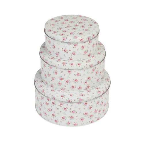Set of 3 Petite Rose Tins