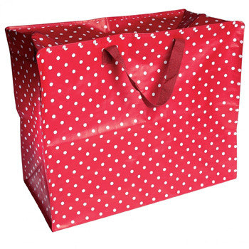 Red Spotty Jumbo Storage Bag