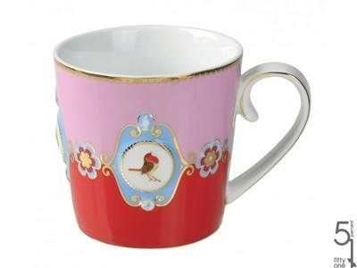 Pip Studio Love Birds Red & Pink Mug