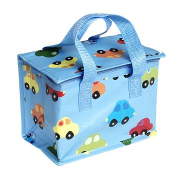 Blue Cars Insulated Lunch Bag