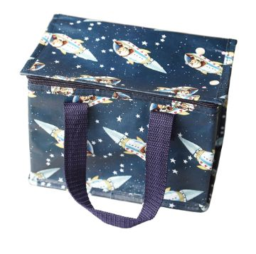 Space Rocket Insulated Lunch Bag
