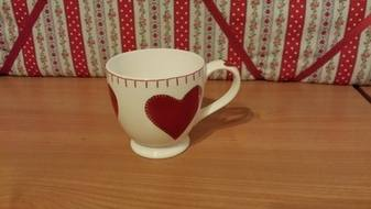 Hearts Small Mug Jan Constantine