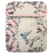 Flamingo and hummingbird designed ipad and tablet case