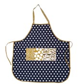 BOTANICA APRON, Blue spot and butterfly print