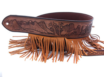 Handmade Leather Rocky Mountain Guitar Strap