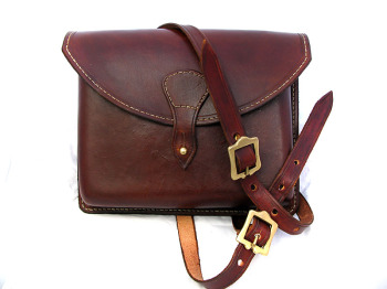 Handmade Leather Moulded Shoulder Bag