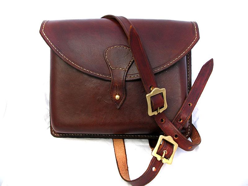 Handmade Leather Moulded Shoulder Bag