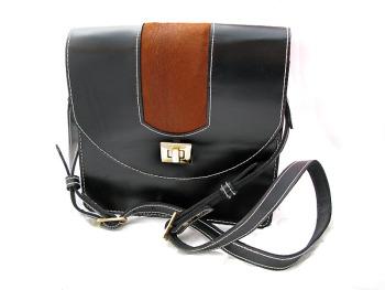 Handmade Black Leather Handbag