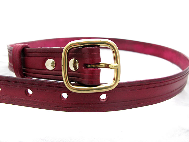 Handmade Leather Belt in Oxblood
