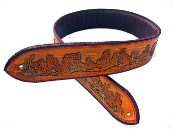 Rocky Mountain Guitar Strap With Bullet Loops